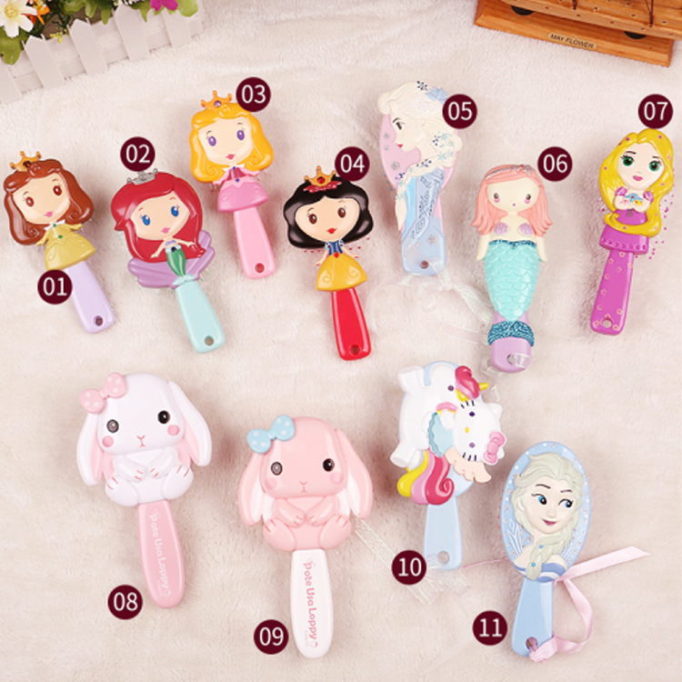 Beauty & Fashion Toys Genuine Disney 3d Princess Brushes Frozen Hair Anti-static Comb For Girls Hair Kids Care Mermaid Comb Pretend Play Toys Role Pretend Play
