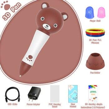 Новые говорящие 3D ручки для рисования с дополнительным светящимся PLA нити набор 3D ручки для детей подарок на день рождения Рождественский п...