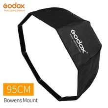 Godox SB UE 95cm 37in נייד מתומן מטרייה Softbox עם Bowens הר עבור Godox סטודיו פלאש DE300 DE400 SK300 SK400
