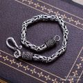 Black silver jewelry wholesale 925 sterling silver jewelry fashion chain bracelet xh053013 male domineering keel
