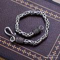 La joyería de plata negro por mayor plata 925 joyería de moda pulsera de cadena xh053013 hombre dominante quilla