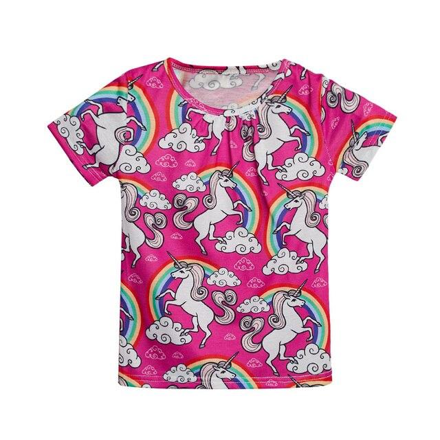 1861b5c79a31c 3 12ANS Filles De Base T Shirt Licorne Imprimé Mignon D été Childen ...