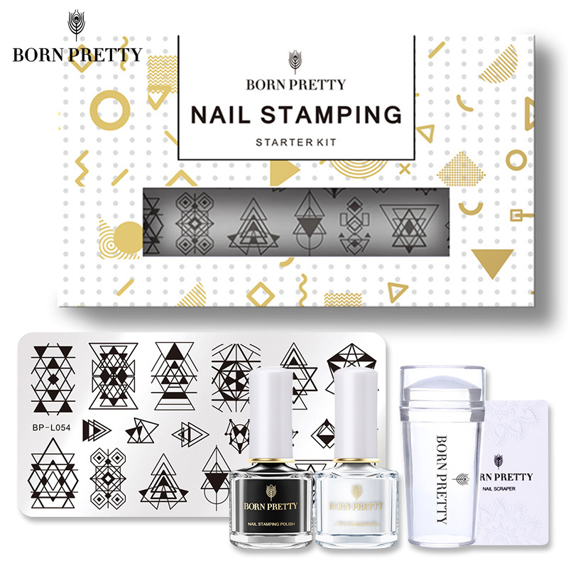 Geometric Reverse Stamping Nail Art Born Pretty Review: BORN PRETTY Geometry Nail Stamping Plate Clear Jelly
