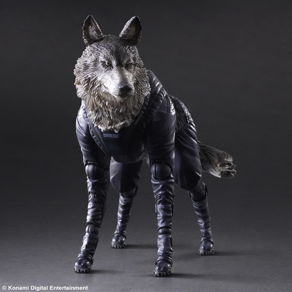 1/6 scale model Metal Gear Solid V The Phantom D-DOG Diamond Dog.about 23cm.Collectible figure model toy gift 1 6 scale model metal gear solid v the phantom d dog diamond dog about 23cm collectible figure model toy gift