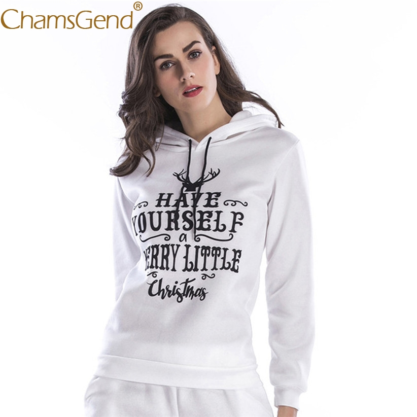Chamsgend Newly Design HAPPY YOURSELF Sweatshirt Tops Women Girls Hoodie Outfit Streetwear 71009 Drop Shipping
