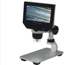 600X ЖК-дисплей Электронный увеличительный микроскоп 3.6MP портативный светодиодный цифровой видео микроскоп с алюминиевым сплавом Stent