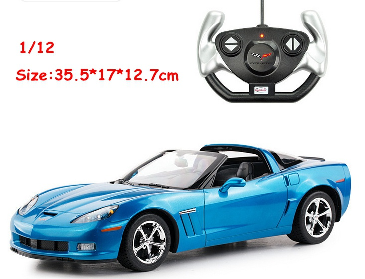 цена на New cool gift 1/12 c6 gs rc movie car remote control large vehicle electric model toys race