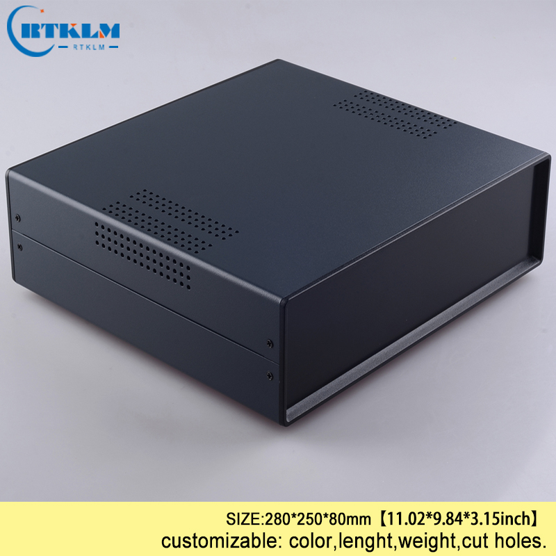 цена на Iron electrical connector enclosure diy instrument case for project enclosure iron Controller wire connection box 280*250*80mm