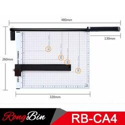 A4 12 ''Inch Printer Metalen Voet Trimmer Papier Cutter Foto Kaart Guillotine Snijmachine Voor Home Office 12 Vellen capaciteit