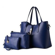 Neueste Designer-handtaschen Hohe Qualität Solide Frauen Schultertaschen Classic Damen Casual-einkaufstasche + Messenger bag + Clutch