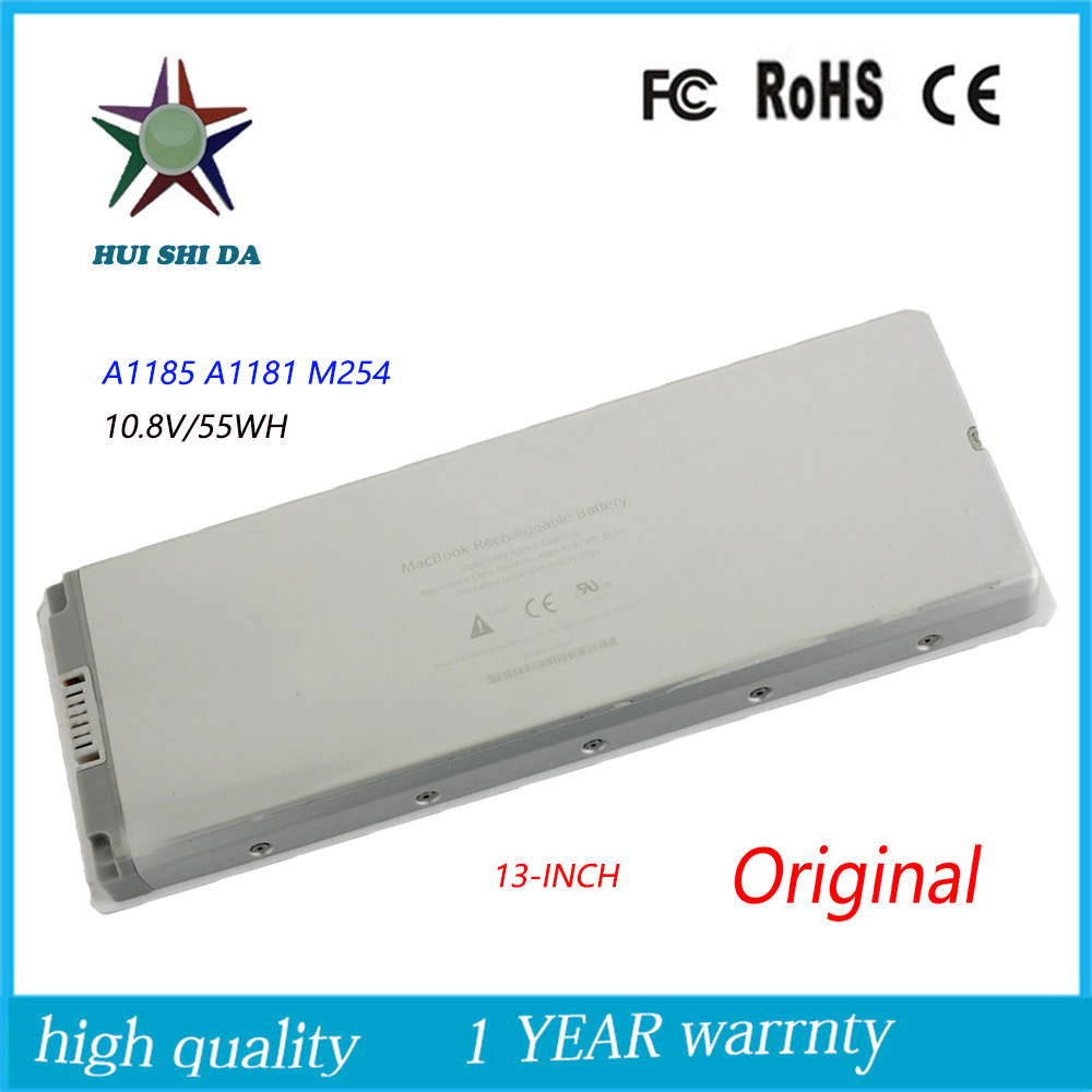 все цены на 10.8V 55WH New  Original   Laptop Battery for APPLE MacBook  A1185  MB402 A1181 онлайн
