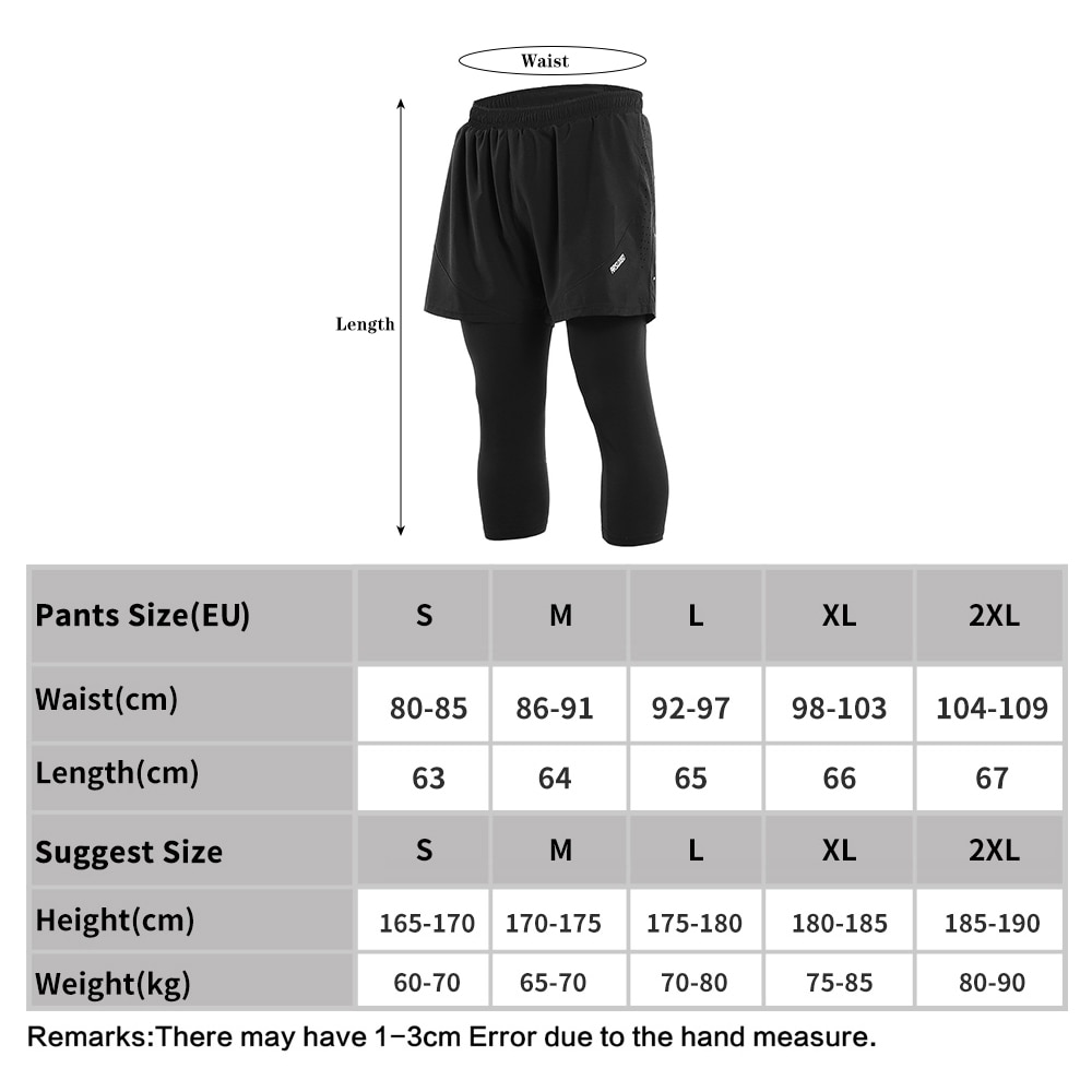 Arsuexo männer 2 in 1 Laufhose Männer Ausbildung Marathon Quick Dry Fitness Gym Training Workout Shorts Leggings Baseball hosen