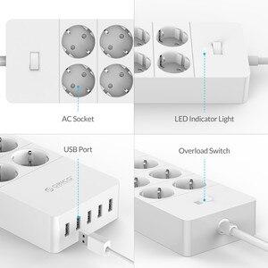 Image 4 - オリコ電気ソケットプラグアダプタと5ポートusb充電器4 6 8 acポート2500ワット出力ホームオフィスでの使用
