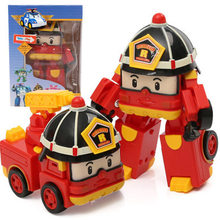 Explosive Korean Q version of Polly Transformed Vehicle PL Transformed Robot Team Children's Intelligence Animation Toys(China)