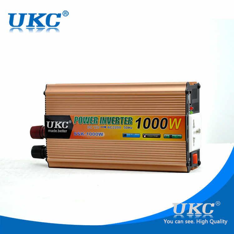 Инвертор 12В 220В 1000 Вт универсальный солнечный инвертор модифицированная Синусоидальная волна бесплатная доставка