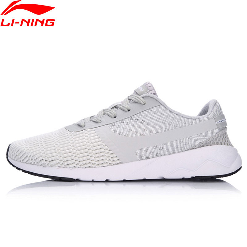 Li-Ning Men Heather Walking Shoes Sports Life Breathable Sneakers Light Weight LiNing Sn ...