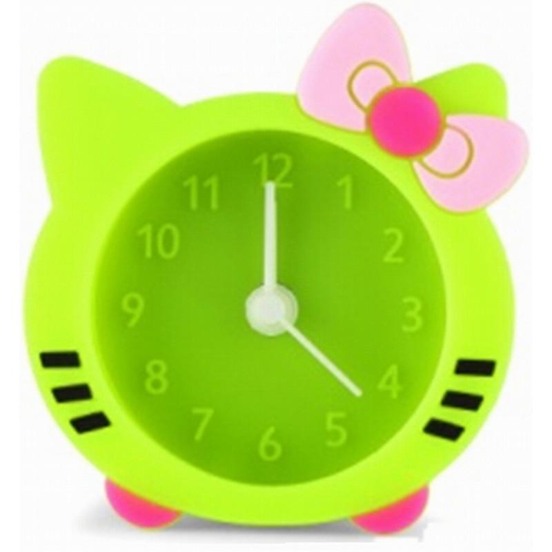 New Home Portable Cute Silicone Mini Dial Number Colorful Desk Alarm Clock
