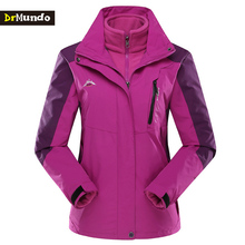 DrMundo Ski Jacket women Waterproof Fleece Snow Jacket Two-piece Thermal Coat For Outdoor Mountain Skiing Snowboard Jacket