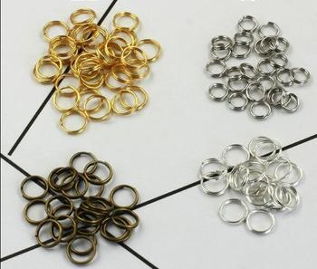Hurtownie 4-12mm podwójna warstwa metalowy brelok do kluczy Keychaindiy Chain Key pilot akcesoria DIY ocena biżuteria złącze tanie i dobre opinie linki do biżuterii Double key ring accessories Jump pierścionki i kółka łącznikowe 4mm 5mm 6mm 7mm 8mm 9mm 10mm 12mm