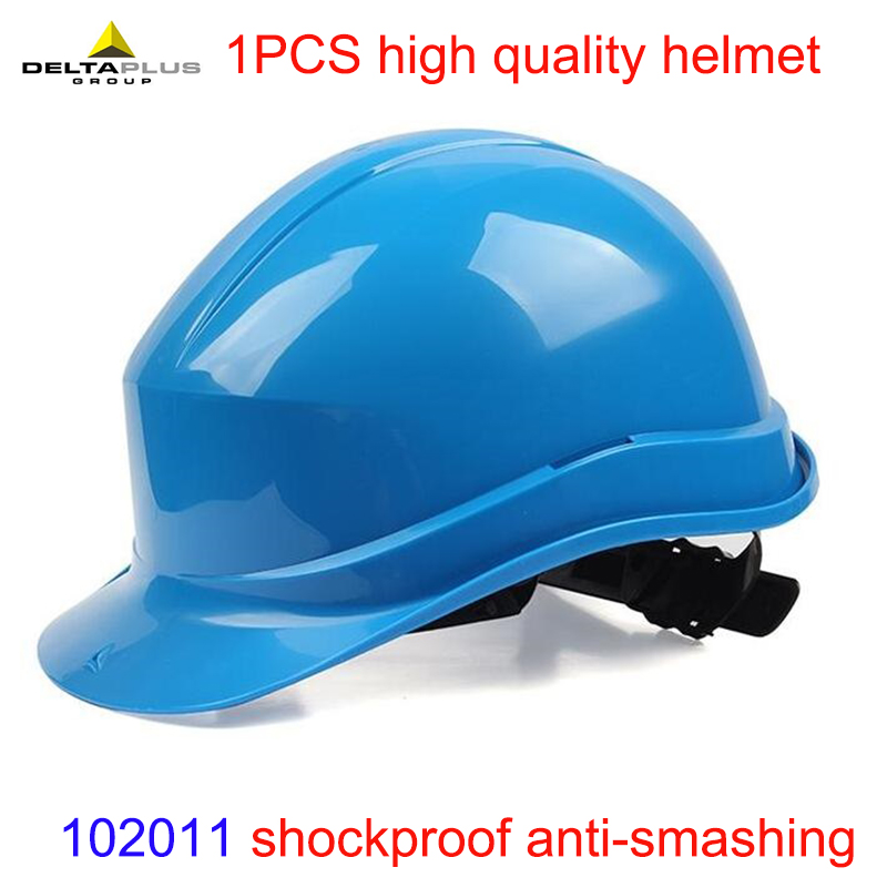 DELTA PLUS 102011 PE helmets shockproof safety helmets 5 colors available Suitable forpeople riot helmets hard hat high quality helmets hard hat y class of chinese standards safety helmets breathable abs anti smashing hard hats