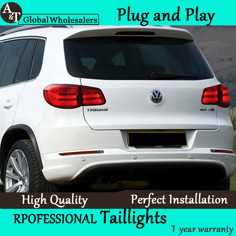 Car Styling for 2010-2012 Tiguan LED Taillights Volks Wagen Tiguan Tail Lamp Rear Lamp LED DRL+Brake+Park+Signal led light jgrt car styling for vw tiguan taillights 2010 2012 tiguan led tail lamp rear lamp led fog light for 1pair 4pcs