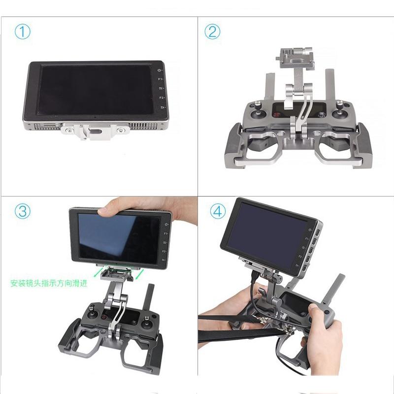 Drone Controller Supporto Del Metallo Crystalsky di Montaggio Per DJI Mavic Min 2/1 Pro Remote Controller Staffa Del Telefono Tablet Monitor Clip - 4
