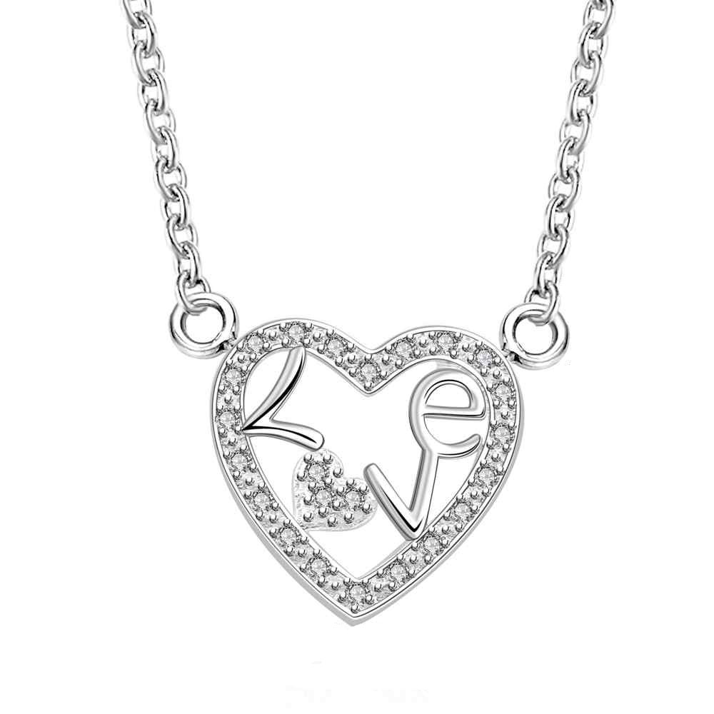 gcbl16 For kim heart shape Animal wolf 20mm size women 925 silver 45cm chain send with packing for women birthday gift pd2 for kim customer send with bag and box 7mm beads 925 silver jewelry for women and men