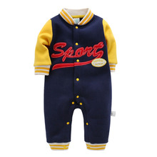2019 New Fashion Baby Rompers Long Sleeve Baby Boy Girl Jumpsuits Clothing Set Newborn Baby Clothes Cotton Soft for 0-18 M