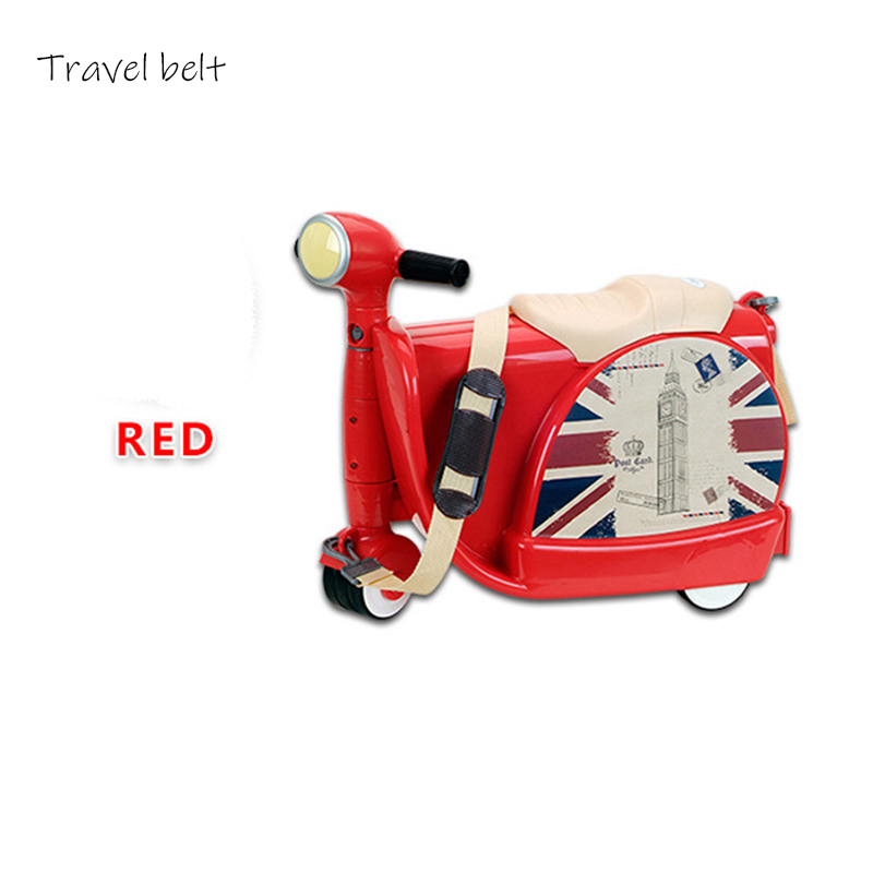 Travel Belt Childrens motorcycle Multifunction high quality PC Rolling Luggage Child travel essentials SuitcaseTravel Belt Childrens motorcycle Multifunction high quality PC Rolling Luggage Child travel essentials Suitcase