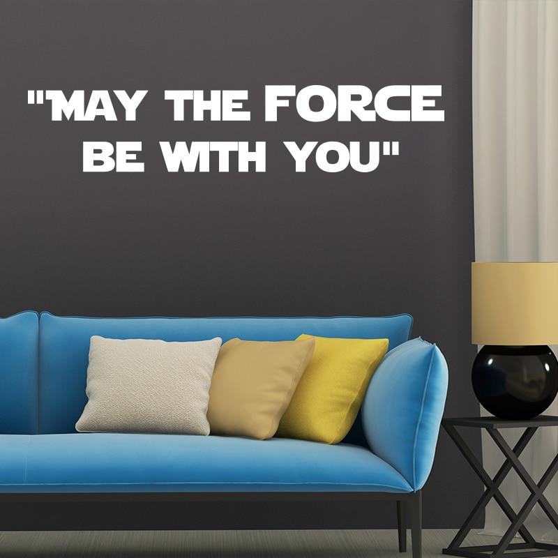 Nov dizajn Naj bo sila z vami War Star Quote WALL STICKER Home Decor - Dekor za dom - Fotografija 6