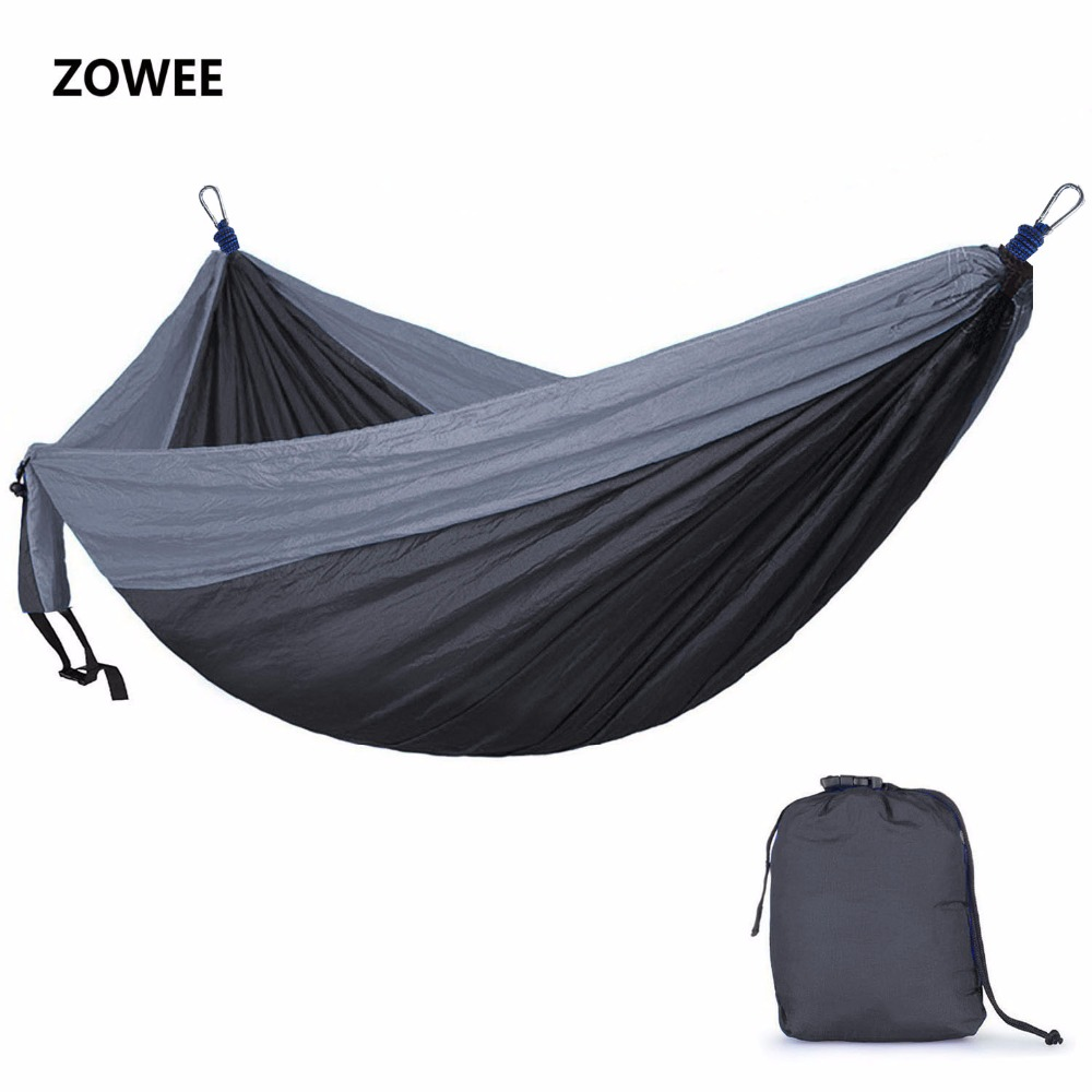 Outdoor Hammock Garden Camping Sports Home Travel Garden Hang Bed Double Person Leisure Travel Parachute Hammocks Free Shipping
