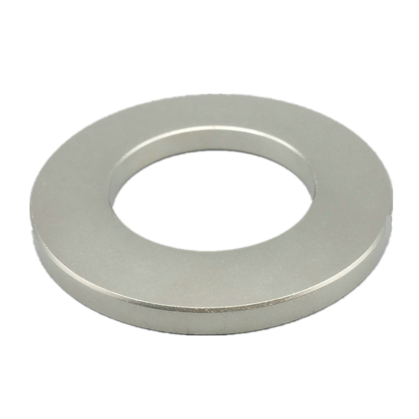 NdFeB Magnet Ring 70x40x6 mm 70mm Diameter 2 8 Large Strong Magnets Axially Magnetized NiCuNi Coated