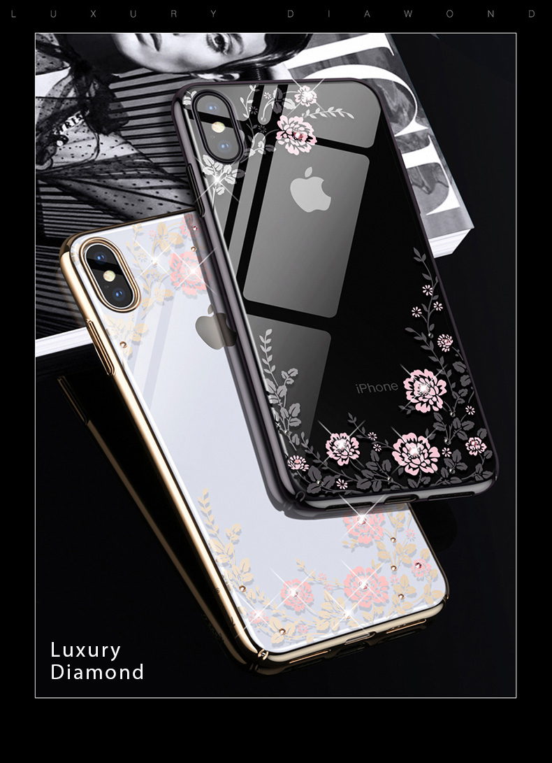 KINGXBAR Case for iPhone Xs Case Gorgeous for iPhone Xs Max Cover Luxury for iPhoneXs Cover Transparent Crystals from Swarovski  (2)