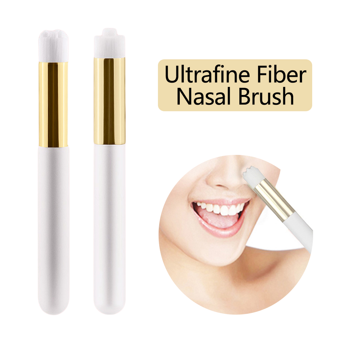 Nasal Pore Deep Cleaning Portable Soft Double Hair Face Washing Brush 1PC Pro Ultrafine Fibre Nose Blackhead Acne Removal Brush recyclable nose cleaner nasal cavity cleaning device medical and health care nose cleaning bottle with water flow control switch