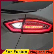KOWELL רכב סטיילינג 1 הרבה 4pcs עבור פורד מונדיאו Fusion פנסים אחוריים 2013 2016 LED מנורת זנב אחורי מנורה DRL + בלם + פרק + אות lig