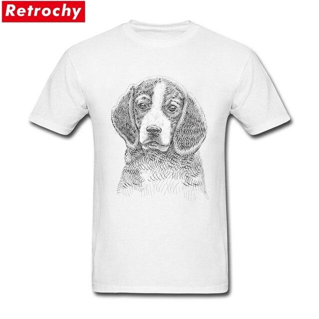 T Logotipo Da Camisa Beagle desenho Homens Impresso T Camisas Brancas de  Manga Curta 3XL 240c47afaff3b