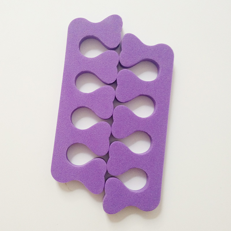 60pc*Purple Beauty Nail Art & Feet EVA Foam Nail Art tools Finger Bracket Nail & Toe seperators Manicure Pedicure Tools