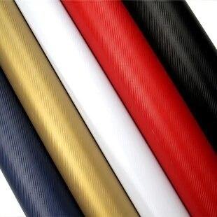 HUANLISUN 127x30cm 3D Carbon Fiber Film Vinyl Sticker Car Body / Purple Pink Red Green Golden Black Blue White Free Shipping