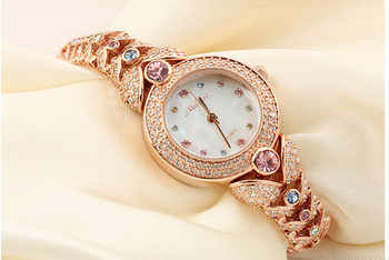 Elegant MELISSA Bracelet Watch Noble Fashion Palace Designer Crystals Dress Wrist watch Quartz Relogio Shell Montre Femme MG523