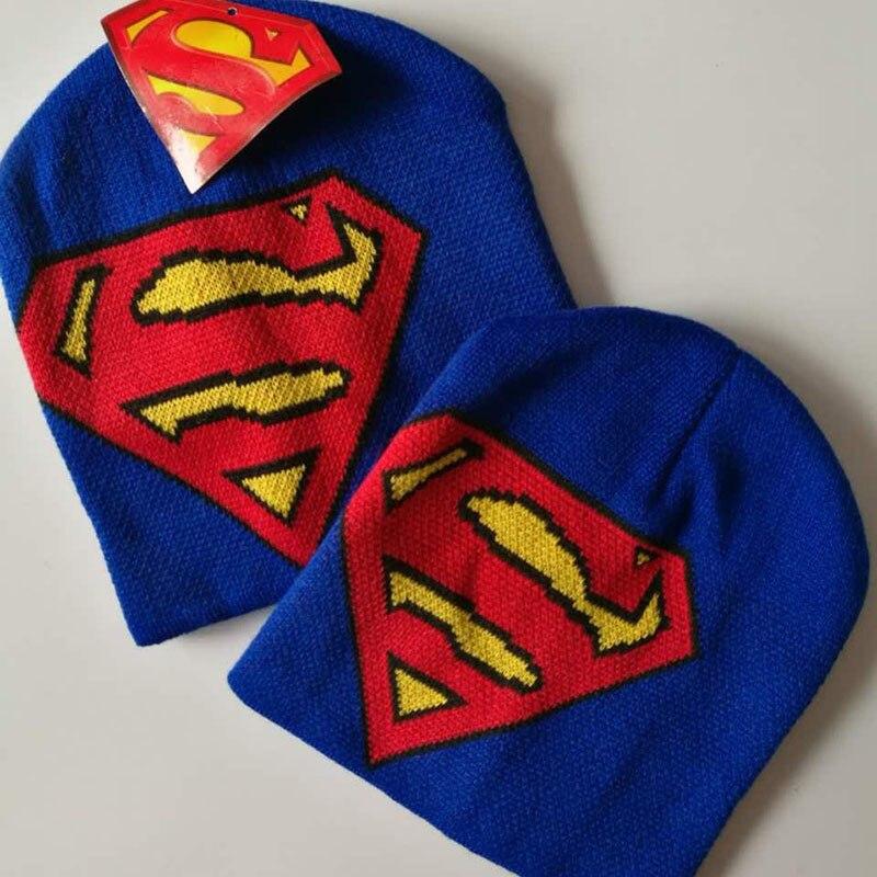 Fashion !! 2016 New Winter Knitted Women Hats For Children Hat For Girls/Boys Superman Beanies Men Cap Women Beanie Unisex Hat 9