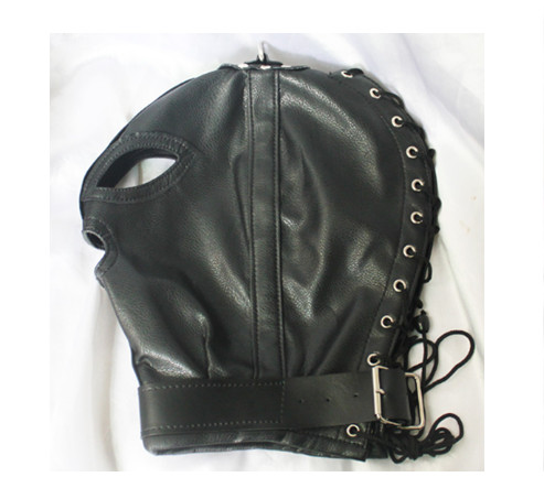 BDSM Adjustable PVC Leather Hood Mask Head Bondage Belt Slave In Adult Games,Fetish Sex Products Toys For Men And Women - XZE04 easy carry three stages ceramic carbide diamond knife sharpener pocket outdoor edc tool fish hook professional sharpening stone