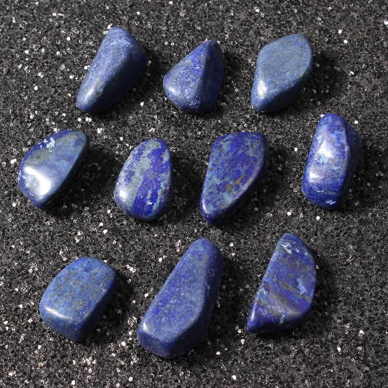 Kiwarm 10 шт./компл. синий нерегулярные содалит камень упали Камни Исцеление Кристаллы Gemstone Драгоценные камни рейки Бусины украшения 1.8 см-3 см