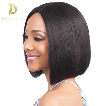 Short Lace Front Human Hair Wigs Bob Wig Full and Thick For Black Women Natural Color Brazilian Remy Hair Free Shipping Dollface