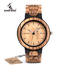 BOBO BIRD Classic Men Wood Watch Custom Wooden Band Men Quartz Watches  Orologio da uomo DROP SHIPPING Kuvars Kol Saatleri