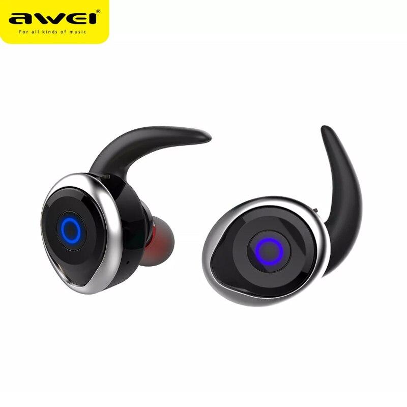 AWEI T1 TWS Bluetooth airpods écouteur Bluetooth V4.2 casque Double sans fil écouteurs sans fil écouteurs sans fil