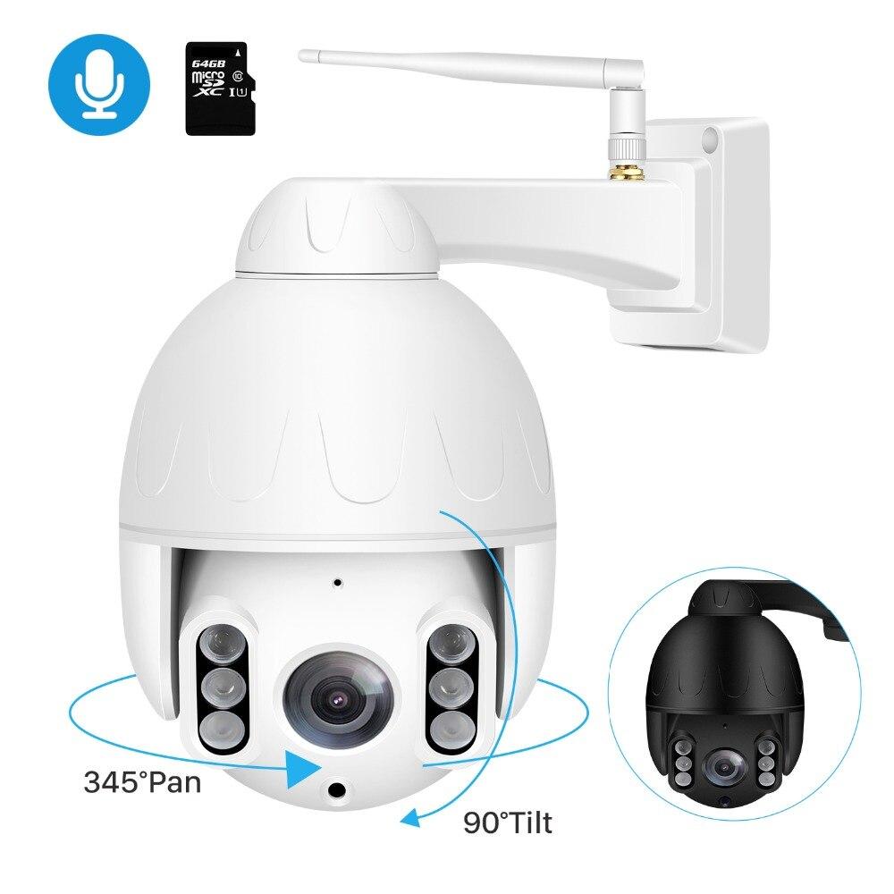 BESDER 50M Wi Fi IP Camera PTZ Outdoor Waterproof IP66 Speed Dome IP Camera Two Way