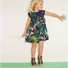 Retail 2016 New next summer girl dress Butterfly flower children s princess dress children of the