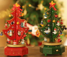 25cm*14.5cm Rotating music christmas tree Christmas gift Xmas tree music box xmas indoor Decoration