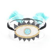 Go2boho Evil Eye Bracelet MIYUKI Bracelets Lucky Pulsera Delica Bead Friendship Tassel Women Jewelry Gift Dropshipping