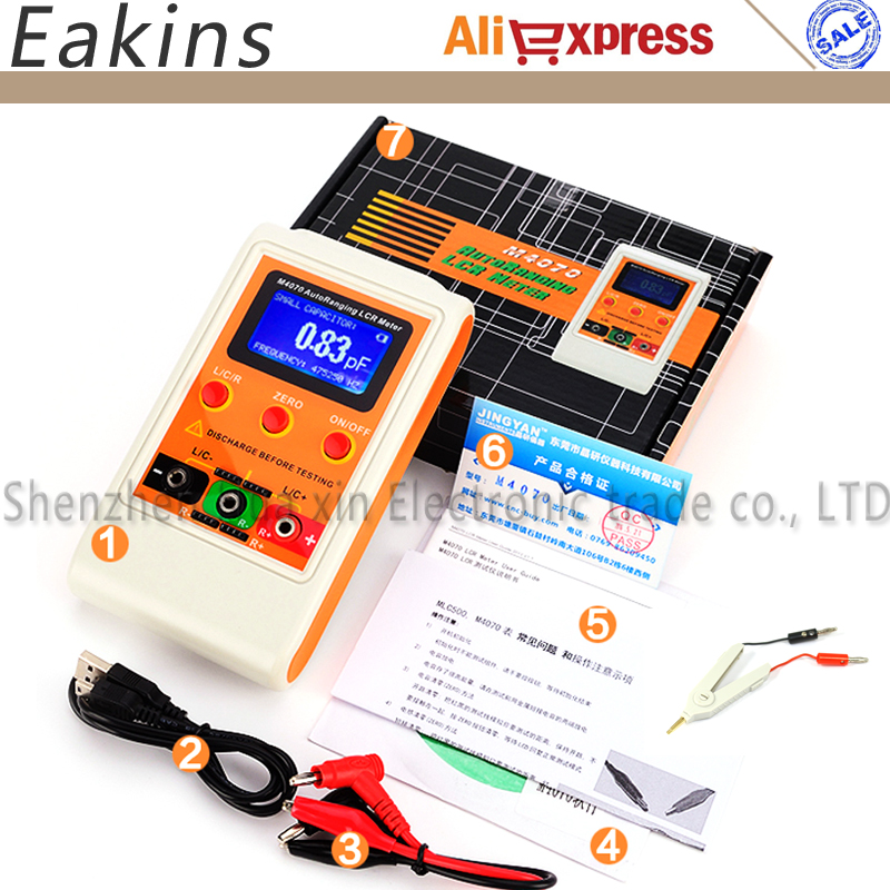 Auto Ranging LCR Meter Up to 100H 100mF 20MR, 1% accuracy 5 digit display Capacitance Meter Inductance Meter Rechargeable lcr meter dy4070g dy6243g dy6013g
